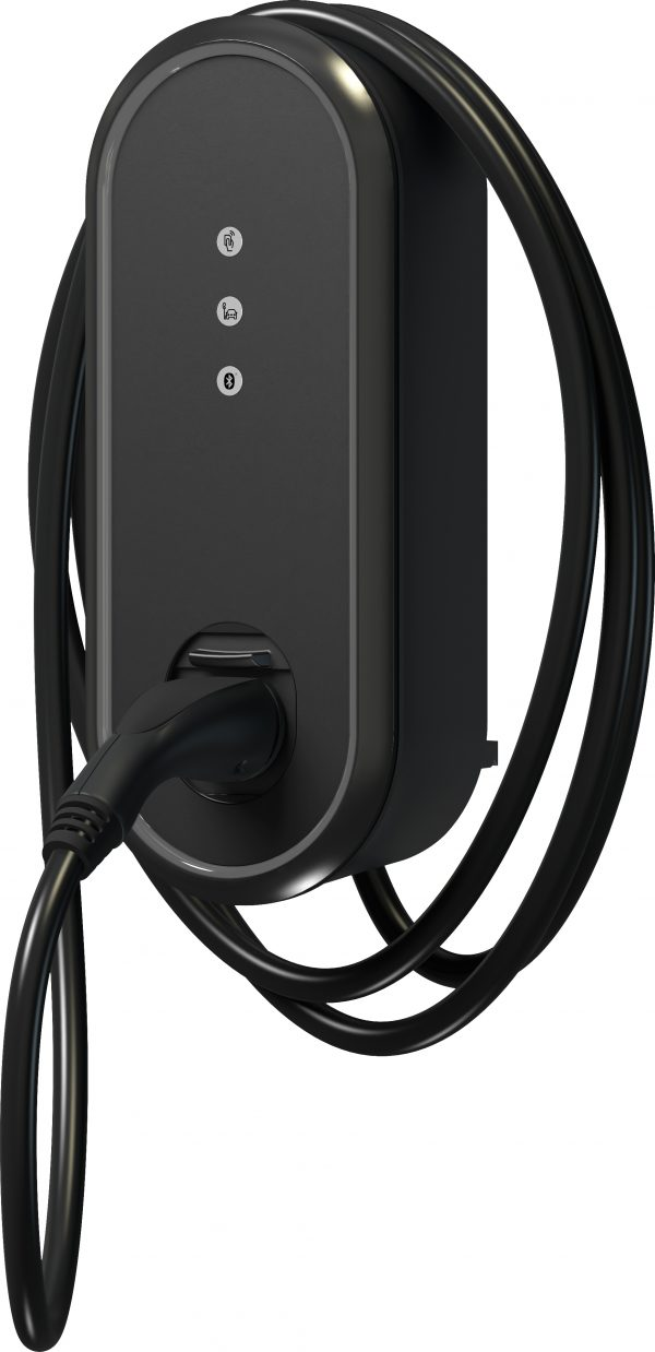 The EV Charger Shop - Innogy eBox 3.0 Professional EV charger with cable in Black