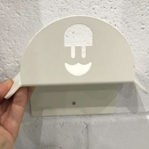 Wallbox cable holder in white