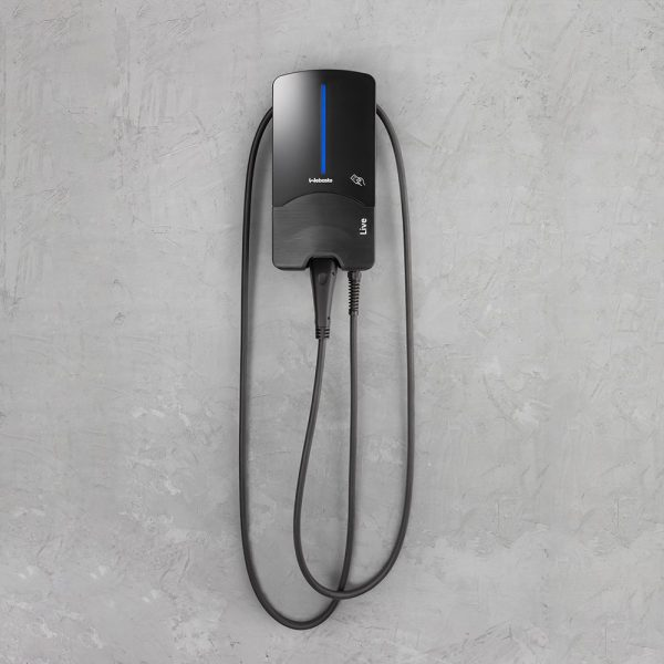 EV-IG EV Charger Shop - Webasto Wallbox Live home EV charger on simple background