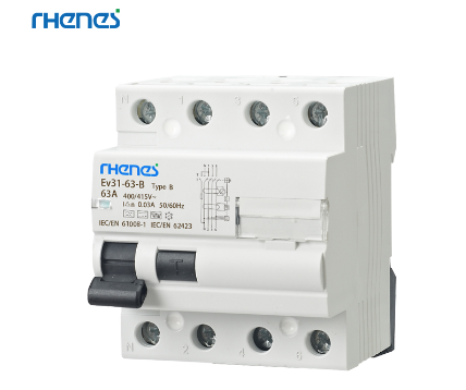 Rhenes RCB Type B for Wallbox's and EV Chargers with no DC drip inbuilt.