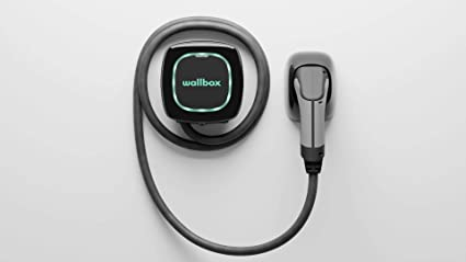 Pulsar Plus electric vehicle charger with cable by Wallbox in black